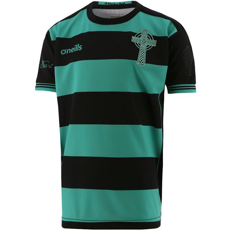 Celtic Cross Hooped Kids' Jersey Black / Green