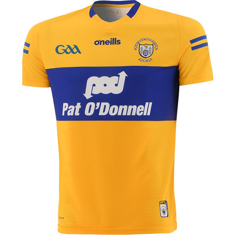 Clare GAA Player Fit 2 Stripe Home Jersey 2021/22