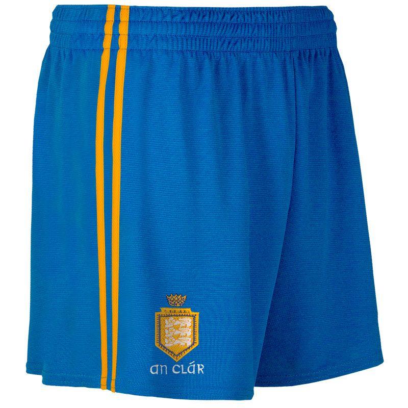 Clare GAA 2 Stripe Home Shorts