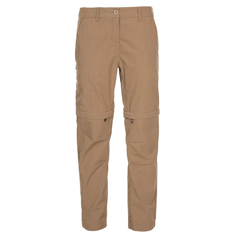 Beige Trespass women's trail walking cargo trousers with pockets from O'Neills.