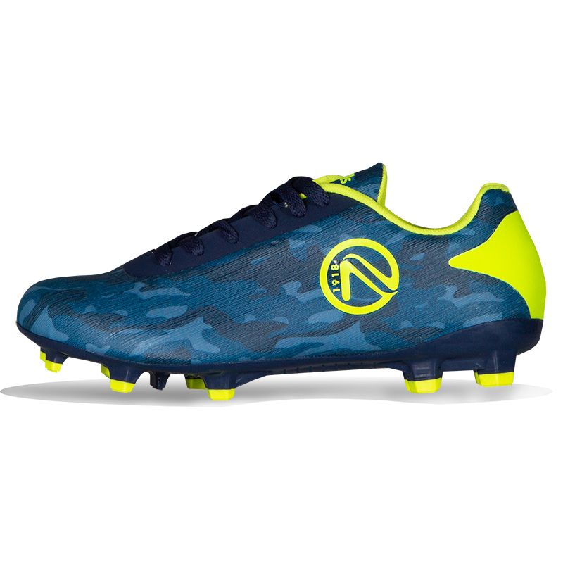 Cobra Firm Ground Laced Football Boots Junior Marine / Yellow