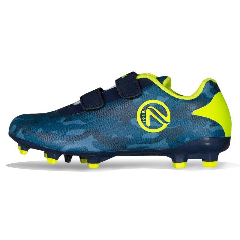Cobra Firm Ground Velcro Football Boots Pre-School Marine / Yellow