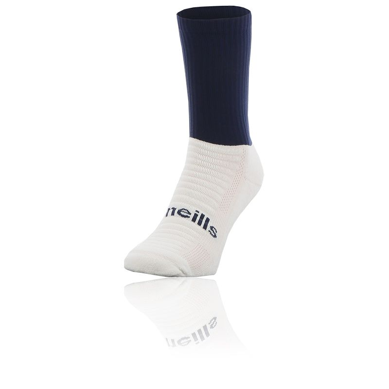 navy and sky Koolite Max Midi socks infused with COOLMAX ® technology from O'Neills