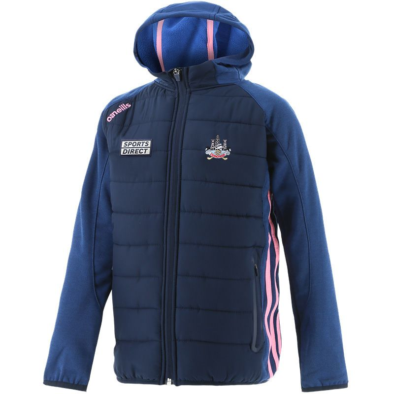 Cork GAA Kids' Portland Light Weight Padded Jacket Marine / Pink