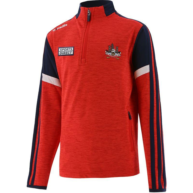 Cork GAA Kids' Portland Brushed Half Zip Top Red / Marine / White