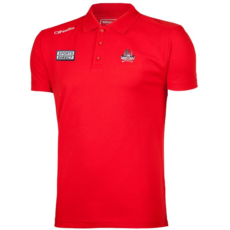 Cork GAA Men's Pique Cotton Polo Red
