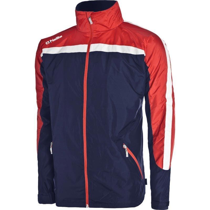 Men's Derby Fleece Lined Full Zip Jacket Marine / Red / White