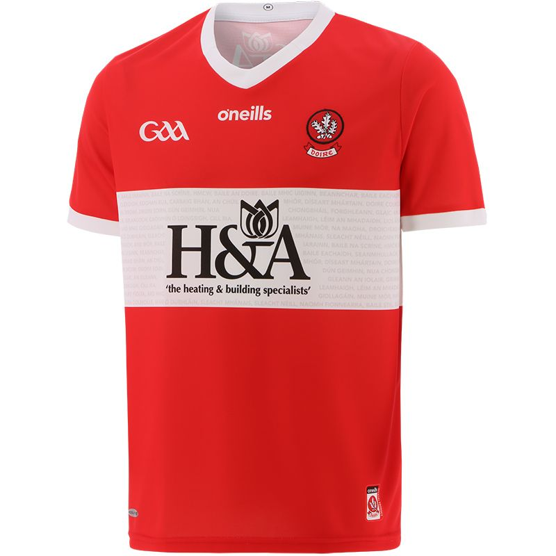 Derry GAA 2 Stripe Away Jersey 2021/22