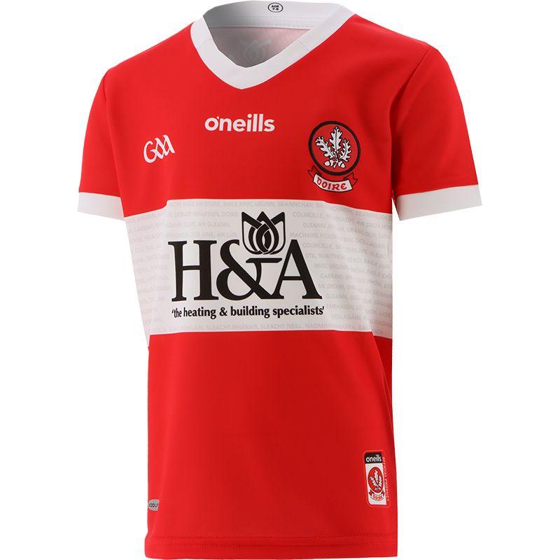 Derry GAA Kids' 2 Stripe Away Jersey 2021/22