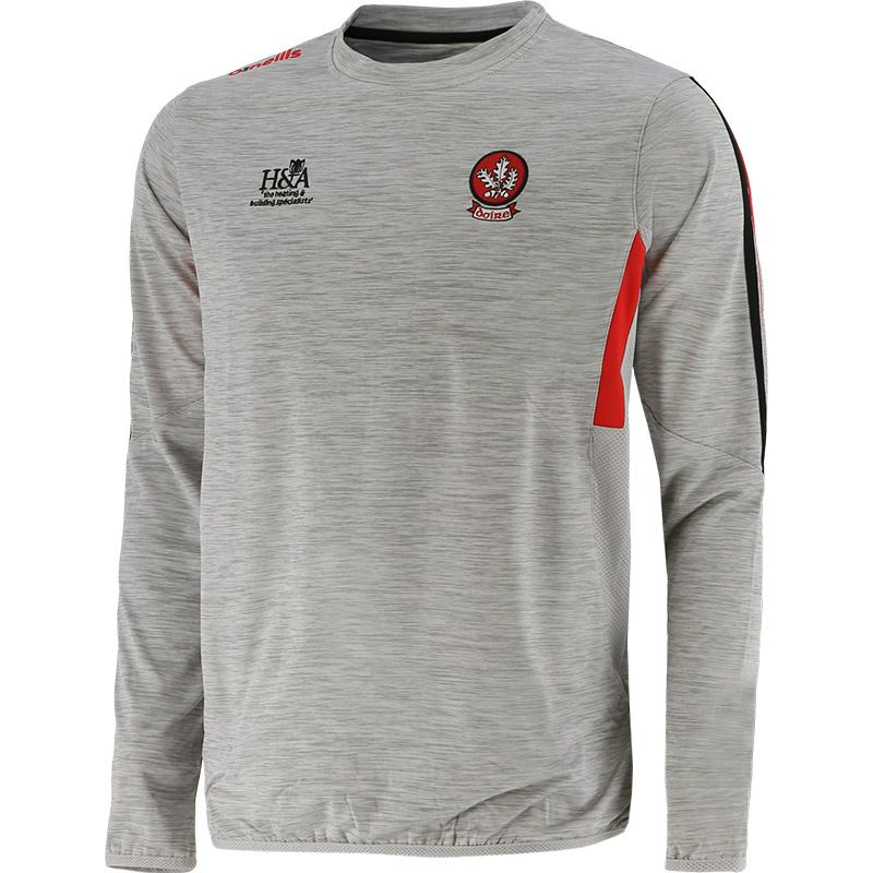Derry GAA Men's Raven Brushed Sweatshirt Silver / Red / Black