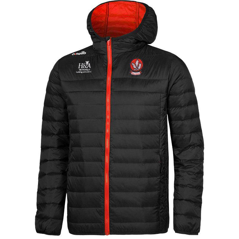 Derry GAA Solar Down Filled Jacket (Black/Red) (Kids)
