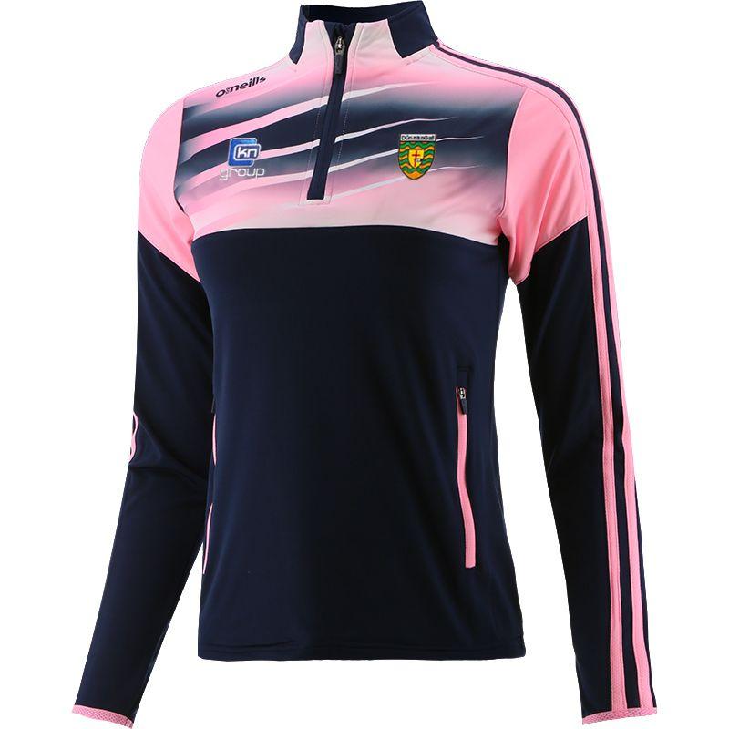 Donegal GAA Women's Portland Brushed Half Zip Top Marine / Pink