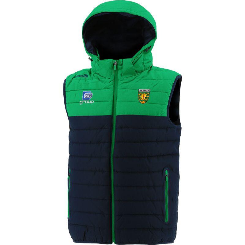 Donegal GAA Men's Portland Hooded Gilet Marine / Green