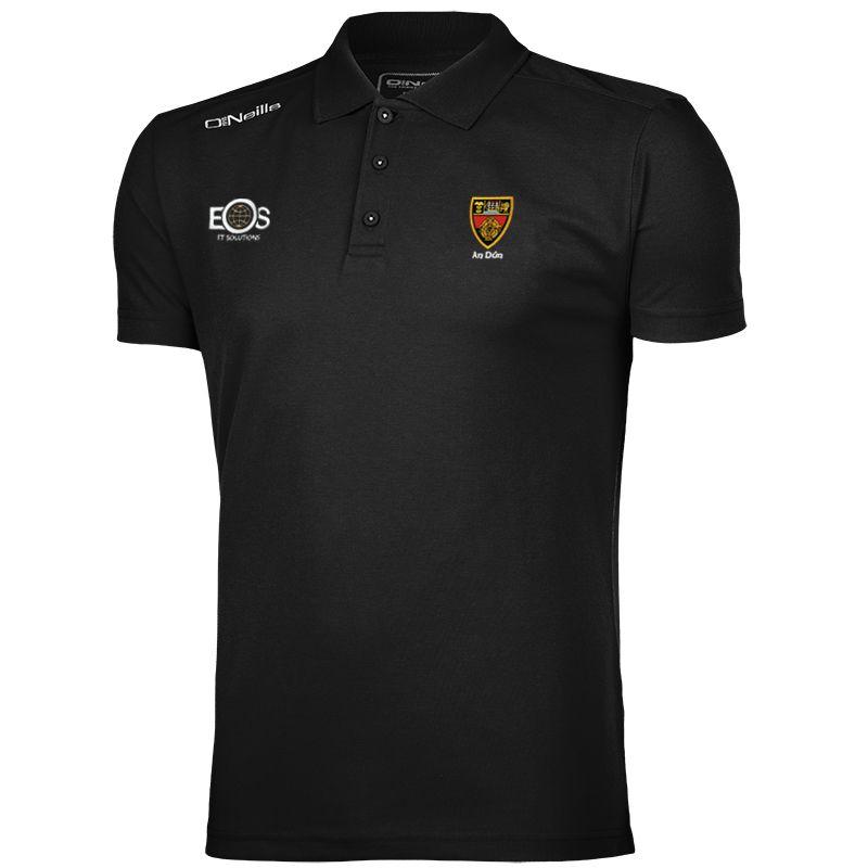 Down GAA Men's Pique Cotton Polo Black