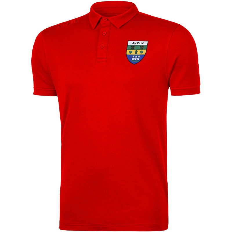 Down GAA Men's Retro Pima Cotton Polo Red