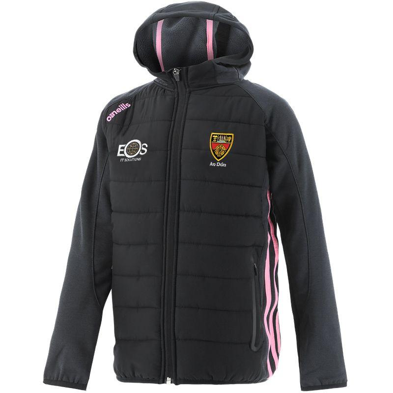 Down GAA Kids' Portland Light Weight Padded Jacket Black / Pink