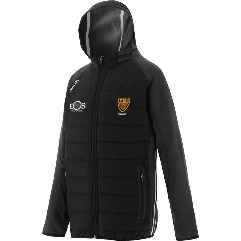 Down GAA Kids' Portland Light Weight Padded Jacket Black / White