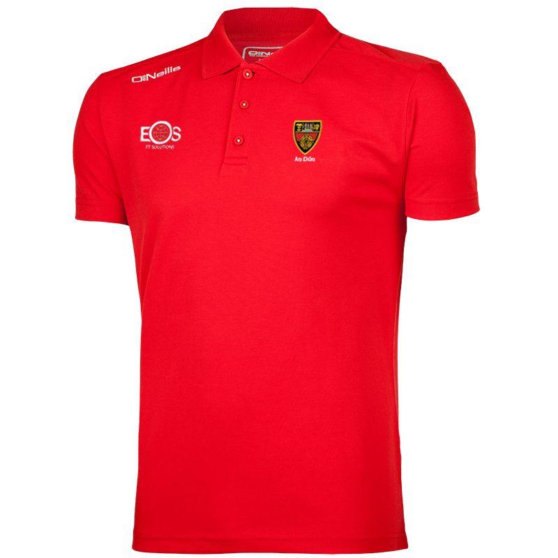 Down GAA Men's Pique Cotton Polo Red