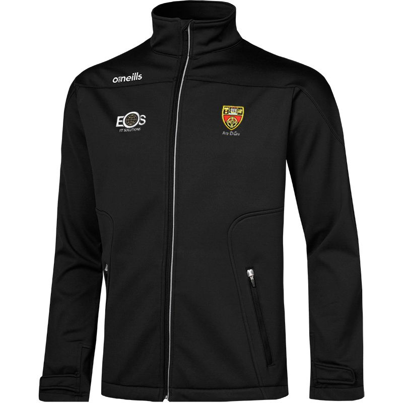 Down GAA Kids' Decade Soft Shell Full Zip Jacket Black