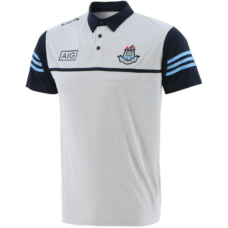 Dublin GAA Men's Bolton Polo Shirt White / Marine / Sky