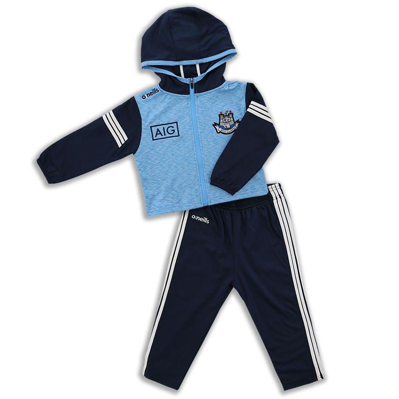 Dublin GAA Kids' Bolton Brushed Infant Suit Sky / Marine / White