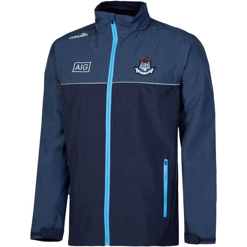 Dublin GAA Kids' Malone Rain Jacket Marine / Sky / Silver