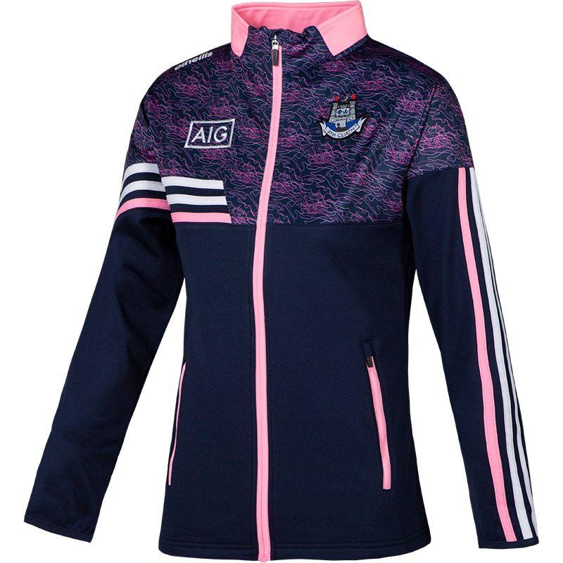 Dublin GAA Women's Nevis Brushed Full Zip Top Marine / Pink