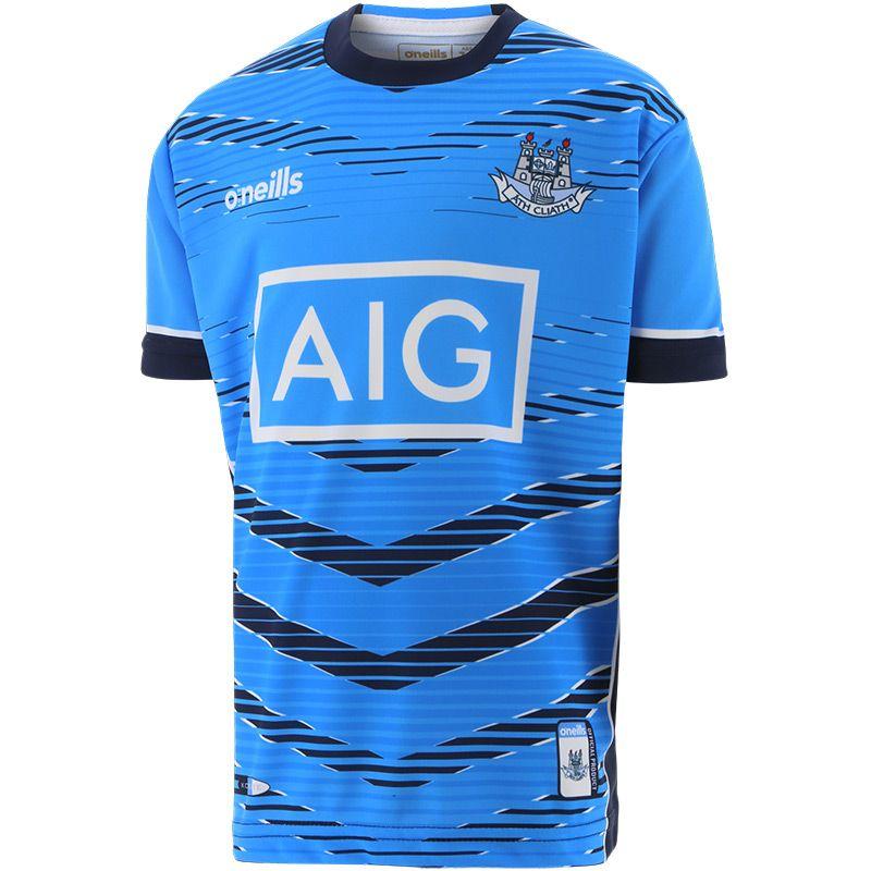 Dublin GAA Kids' Short Sleeve Training Top Blue