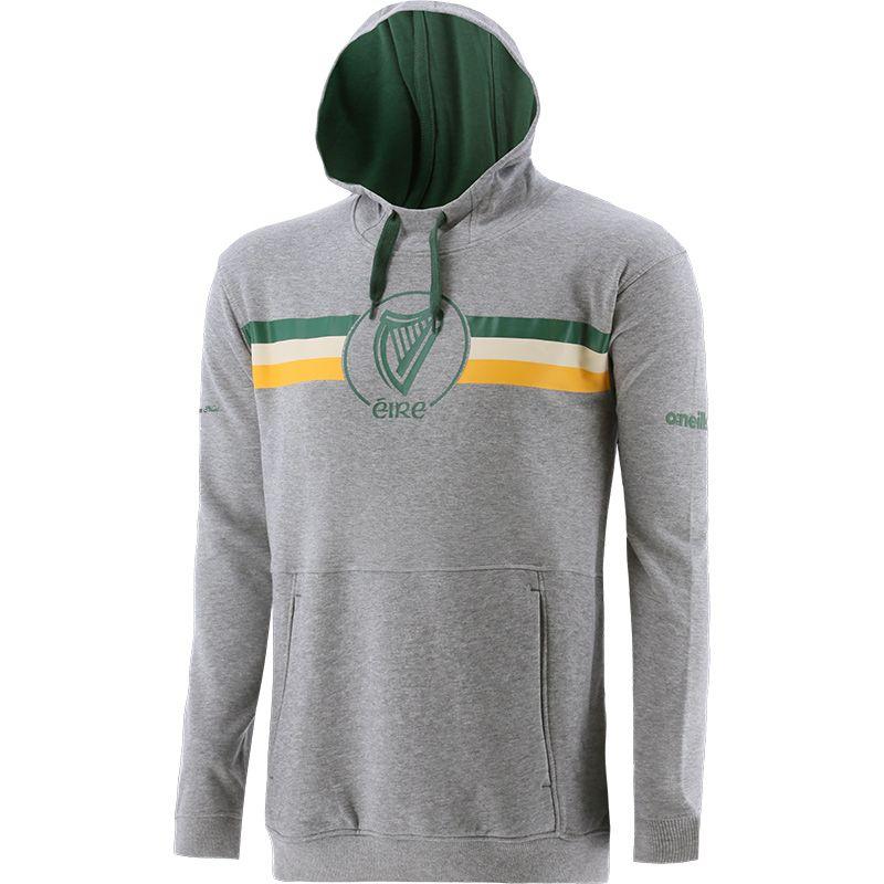 Men's Éire Fleece Overhead Hooded Top Grey