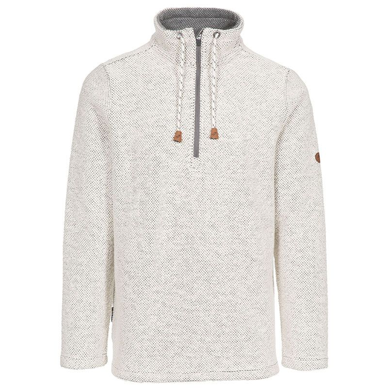 White Trespass men's half zip pullover with drawcord strings from O'Neills.