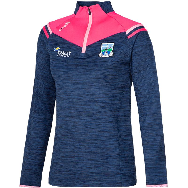 Fermanagh GAA Colorado 2S Brushed Half Zip Top (Mel Tonal Marine/Knockout Pink/Cotton Candy)
