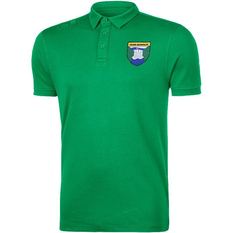 Fermanagh GAA Men's Retro Pima Cotton Polo Green