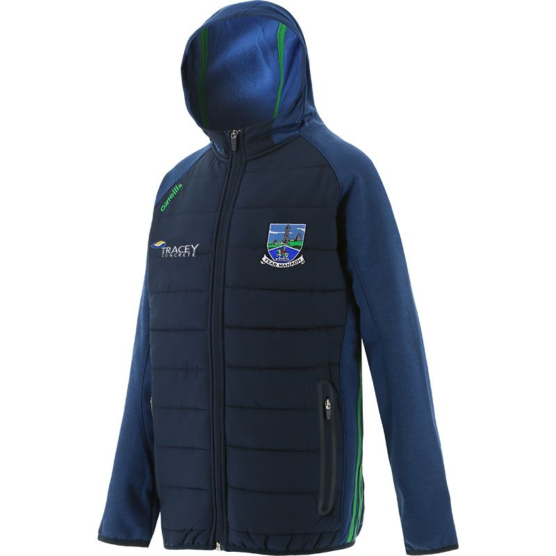 Fermanagh GAA Kids' Portland Light Weight Padded Jacket Marine / Green