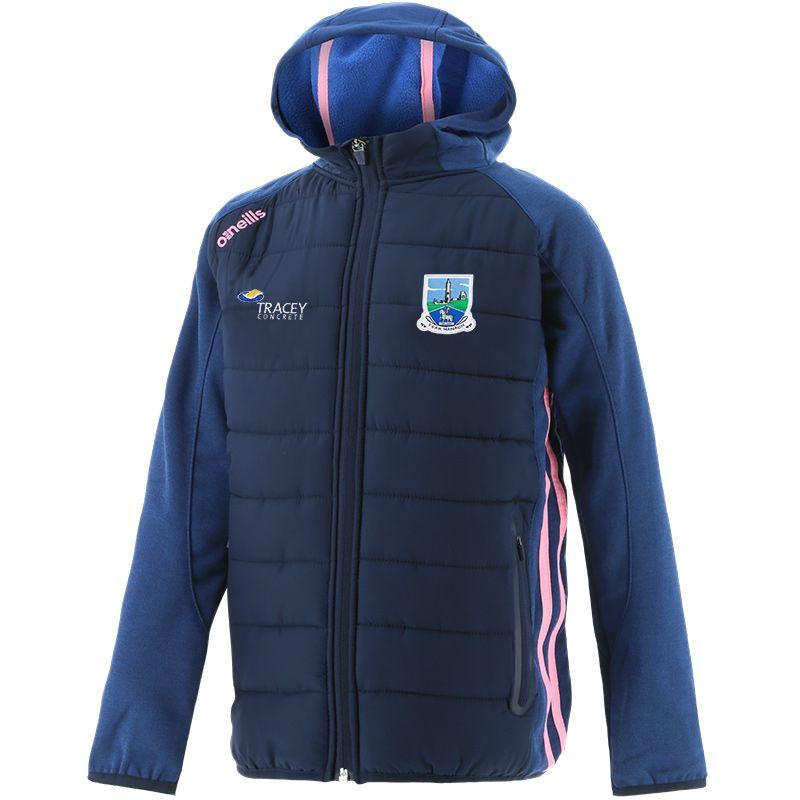 Fermanagh GAA Kids' Portland Light Weight Padded Jacket Marine / Pink