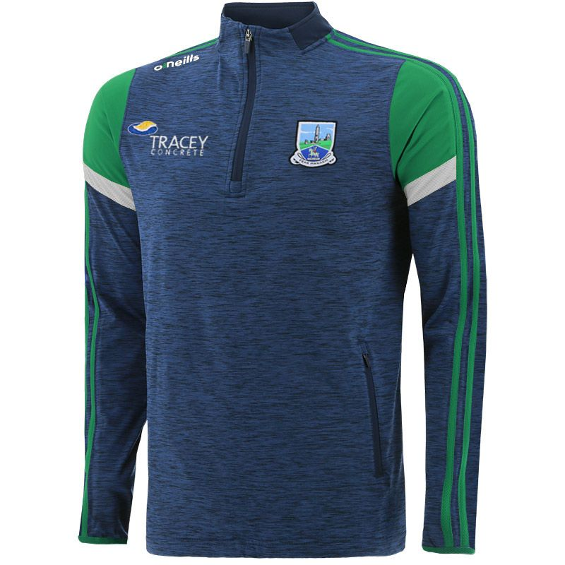 Fermanagh GAA Men's Portland Brushed Half Zip Top Marine / Green / White