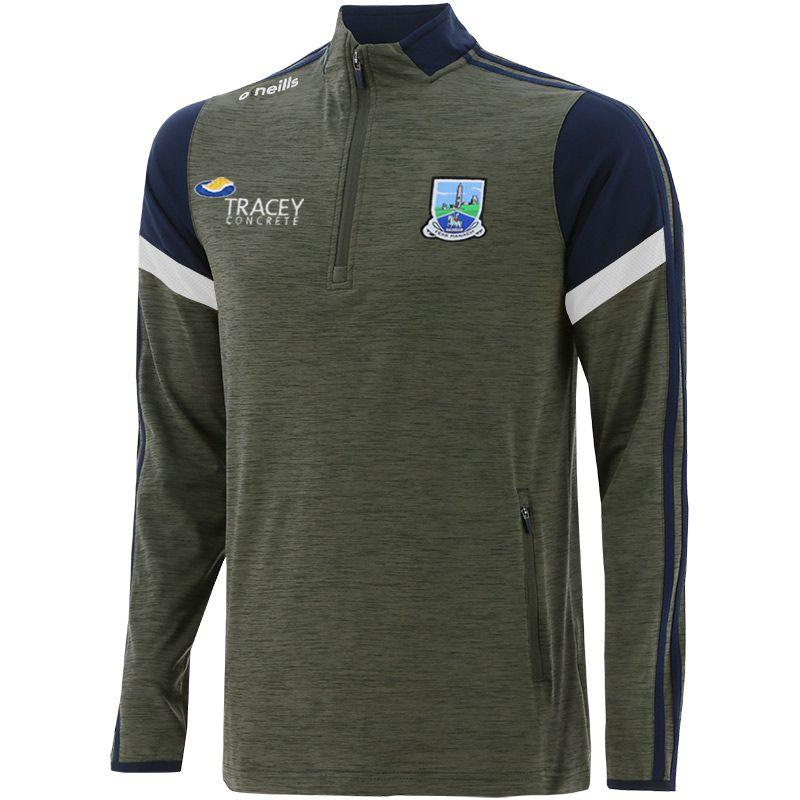 Fermanagh GAA Men's Portland Brushed Half Zip Top Green / Marine / White