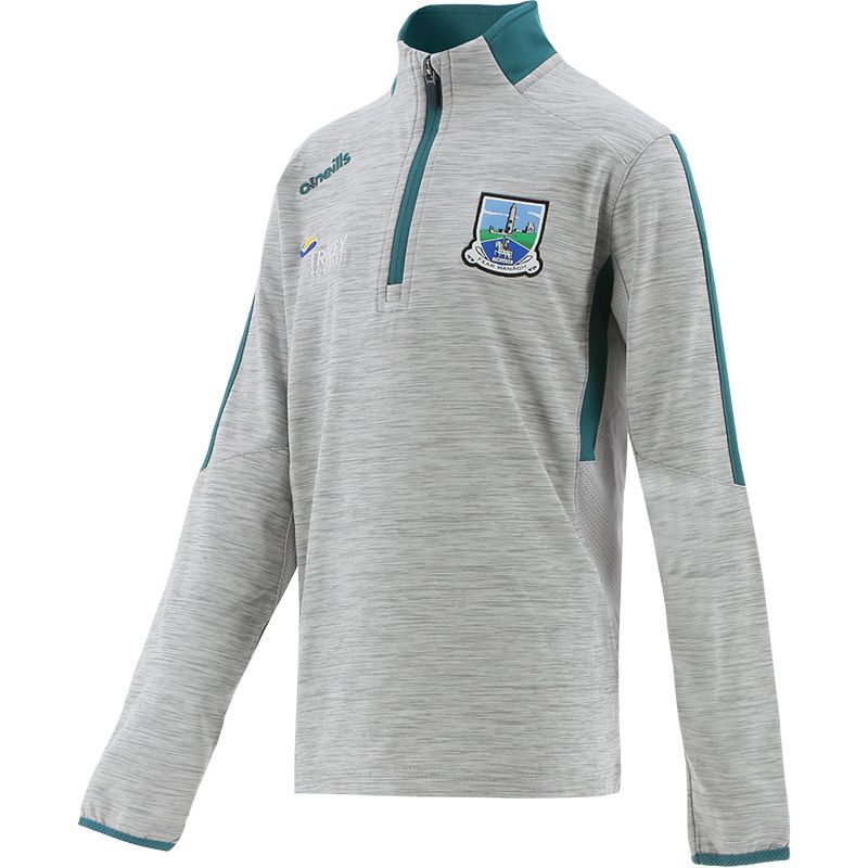 Fermanagh GAA Kids' Raven Brushed Half Zip Silver / Green / Marine