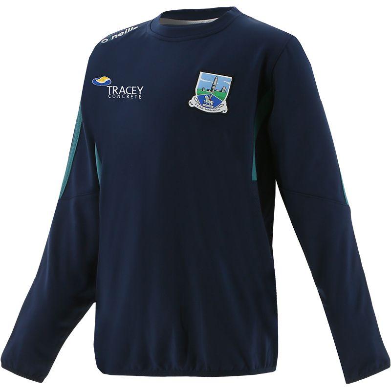 Fermanagh GAA Kids' Raven Brushed Sweatshirt Marine / Green / Silver