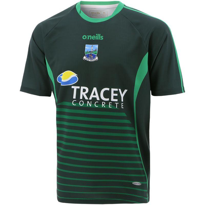 Fermanagh GAA Player Fit Short Sleeve Training Top Green / Bottle