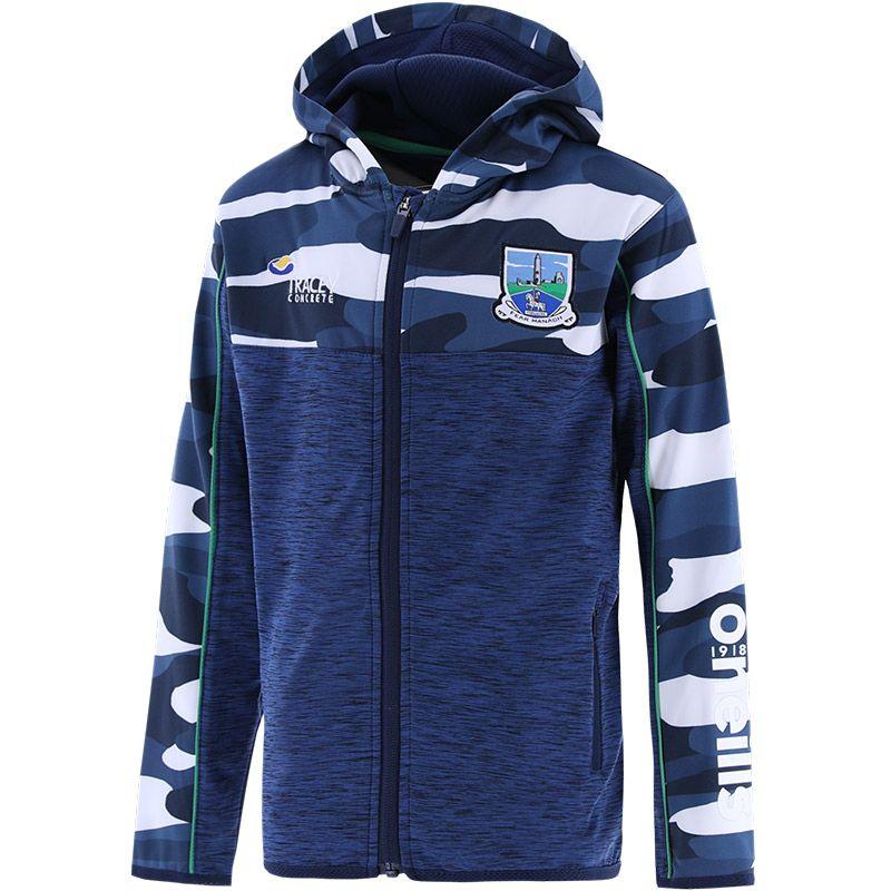 Fermanagh GAA Kids' Bobby Brushed Full Zip Hoodie Marine / Multi / Green