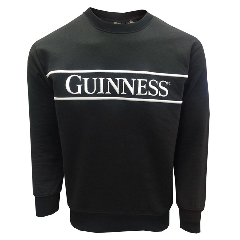Guinness Unisex Embroidered Sweatshirt Black