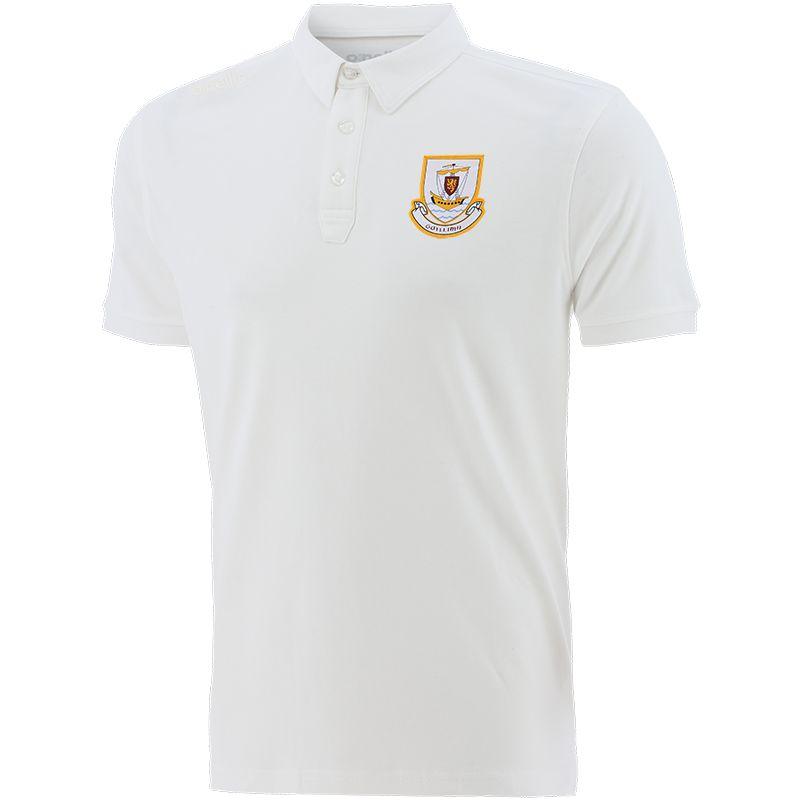 Galway GAA Men's Retro Pima Cotton Polo White