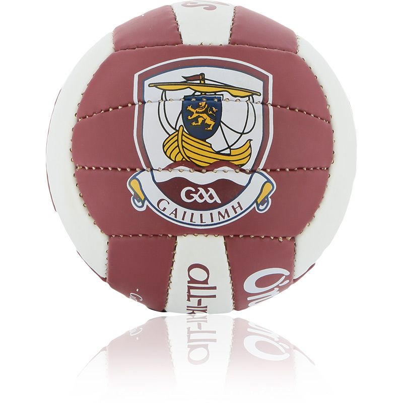 Galway GAA All Ireland Mini Gaelic Football Maroon / White