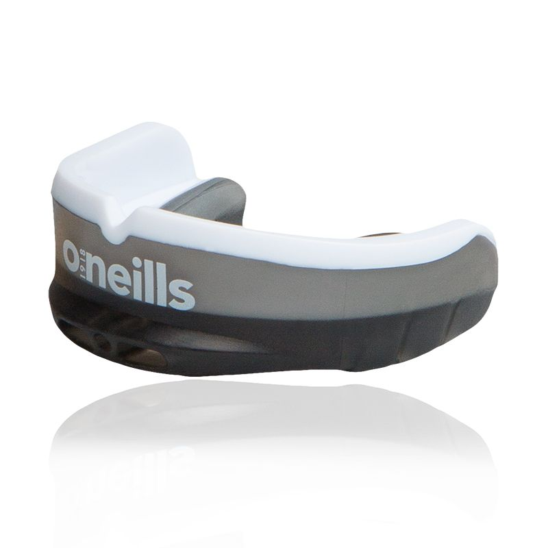 black and white shock absorbing gel mouthguard from O'Neills