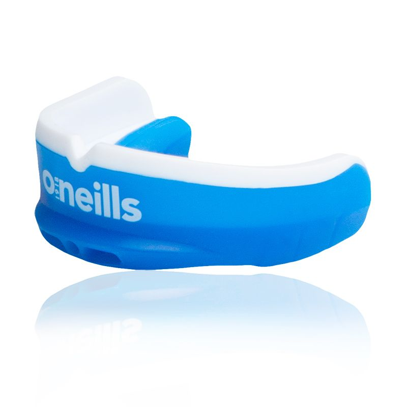 royal and white shock absorbing gel mouthguard from O'Neills