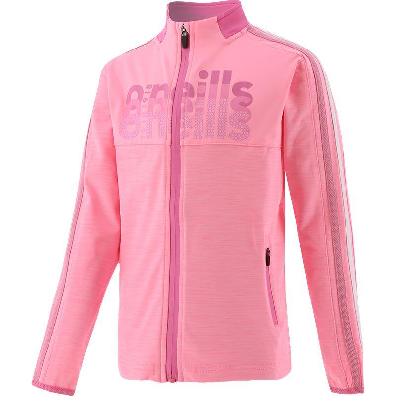 Kids' Girona 2 Stripe Brushed Full Zip Top Pink / White