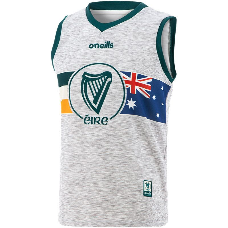 Global Éire Australian Sleeveless Vest Grey / Green