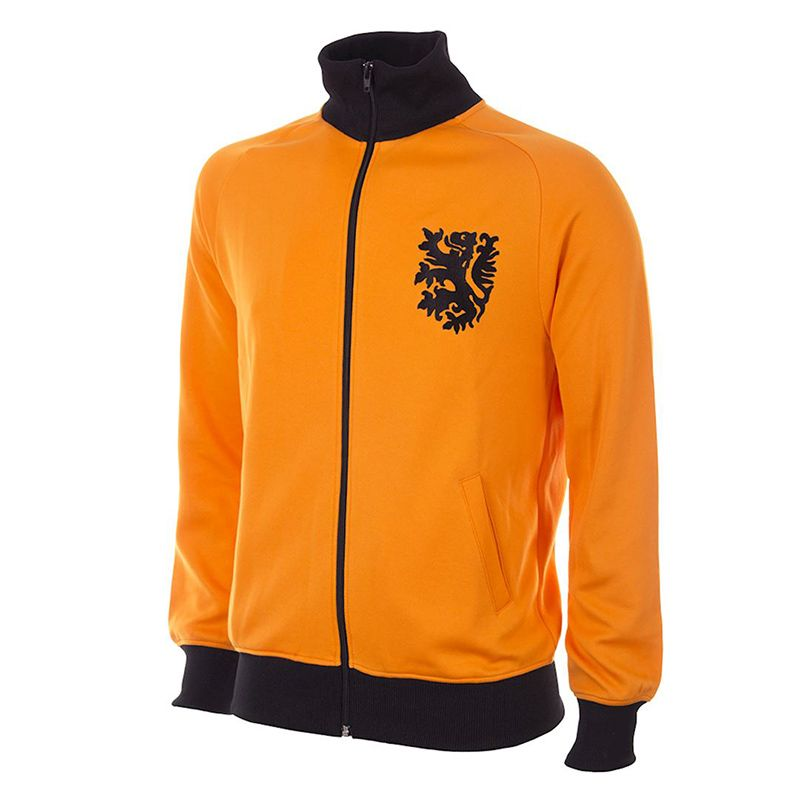 Orange Copa Holland 1978 World Cup Retro Jacket with ribbed collar from O'Neills.