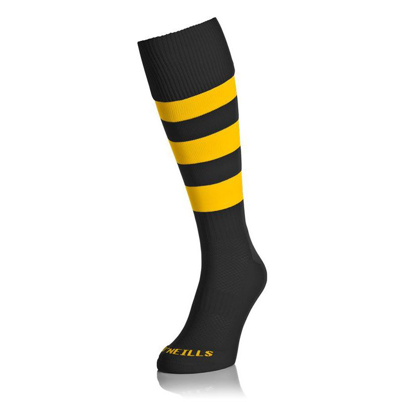 Premium Socks Hoops Black / Amber