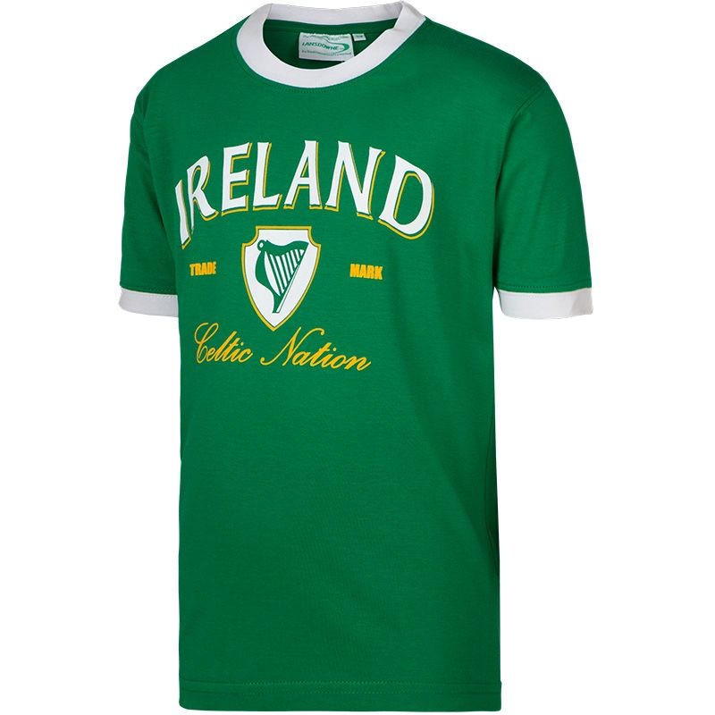 Lansdowne Ireland Kids' Ringer T-Shirt Green